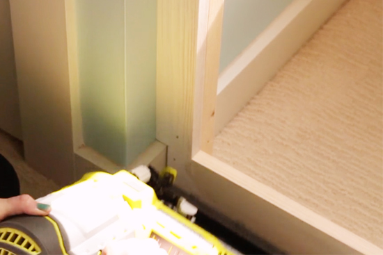 Installing 1x Material For Face of Window Seat Box