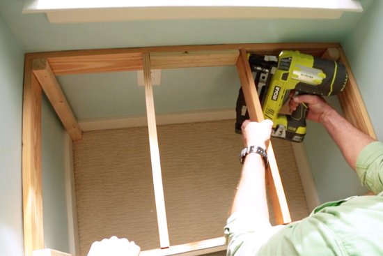 Nailing 1x4s at Top of Seat for Cushion Support