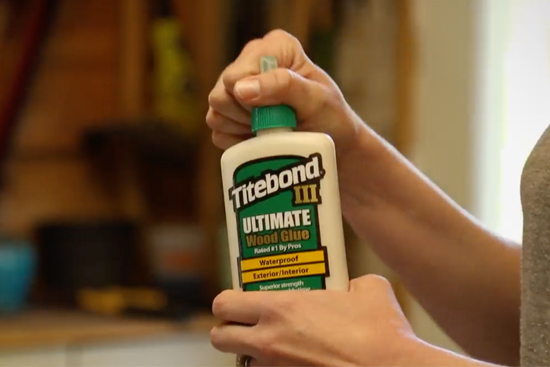 Titebond III Exterior and Interior Wood Glue Green Bottle