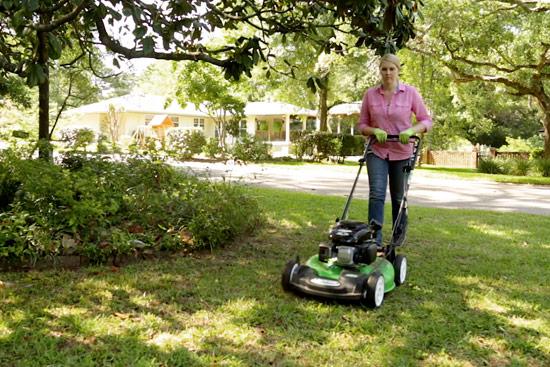 Chelsea Using Lawn-Boy All-Wheel Drive Mower