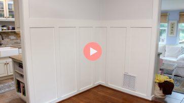 DIY Board and Batten Molding in Dining Room