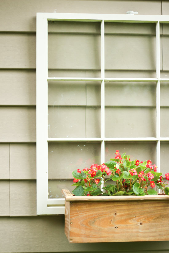 Repurpose Old Window and Planter Box