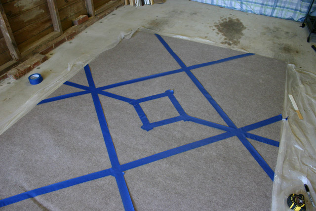 Diamond in Center of Rug Tape Complete