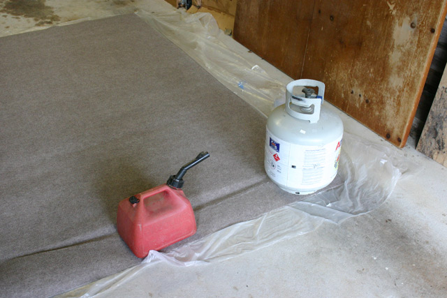 Gas Can and Propane Tank Flattening Rug Curl