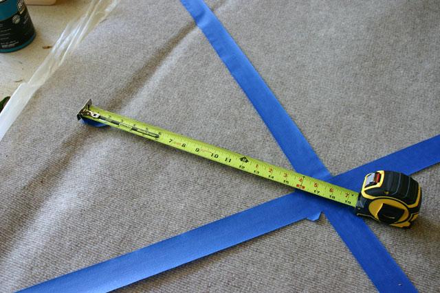 Measuring for Bottom Diamond Pattern