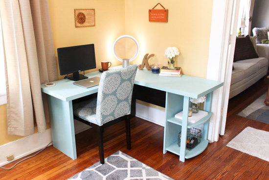 Particleboard Desk Update On A Budget