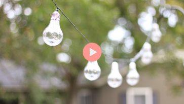 Plastic String Lights Hanging Around Deck