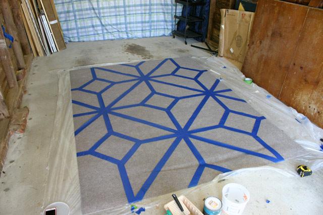 Taping Diamond Pattern Complete