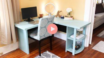 Update IKEA Desk with Plywood and Paint