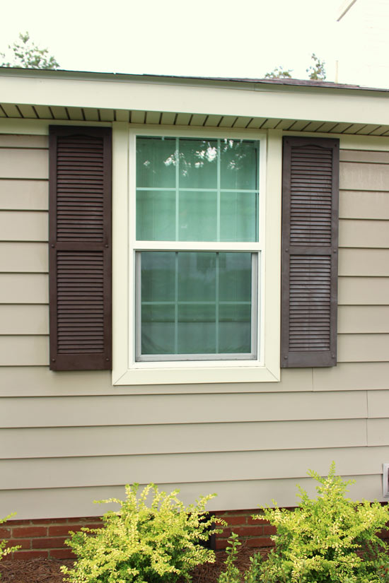 Vinyl Shutter Before and After Revitalizing