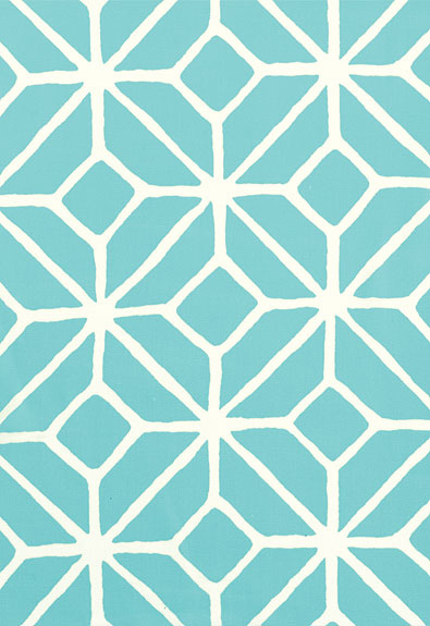 Trina Turk Teal Trellis Design