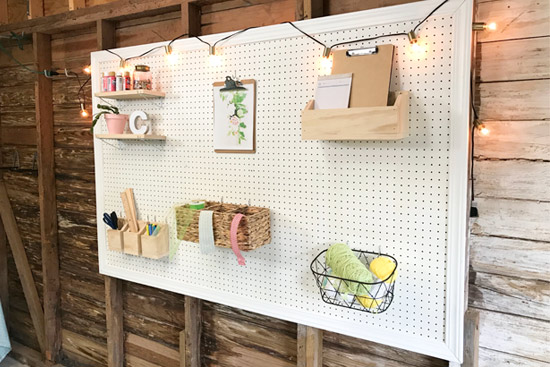 Painting A Pegboard Wall