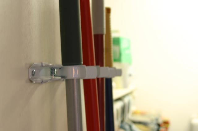 broom mop handle hanging system