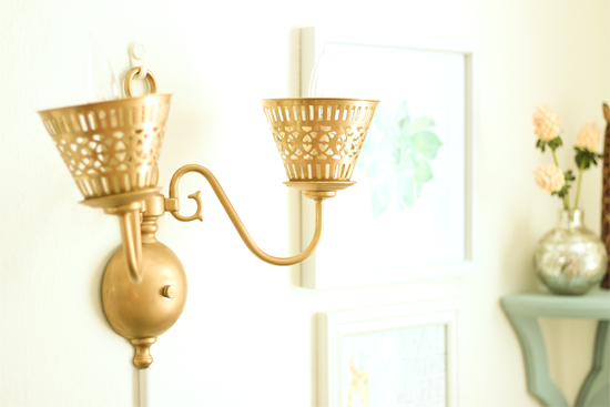 Brass Wall Sconce Wired as a Plug-In