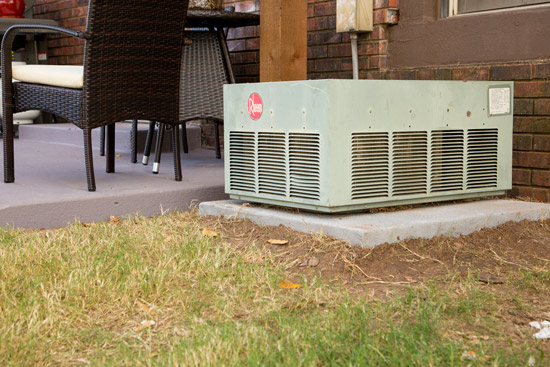 Small Air Conditioner Next to Patio After Relocating
