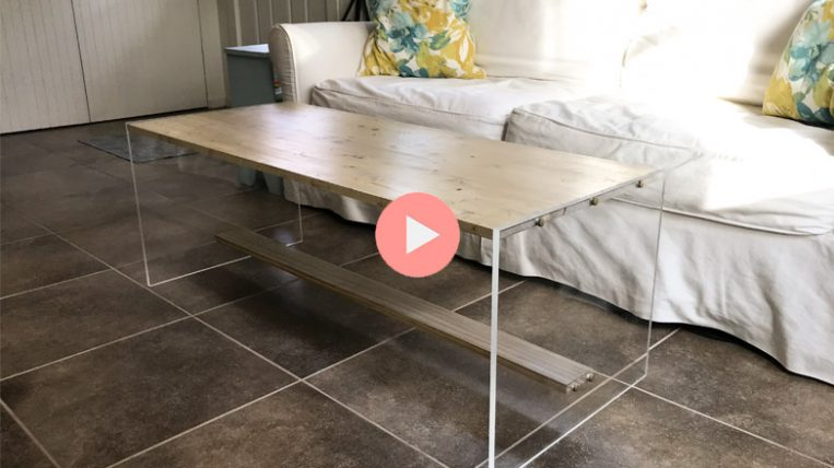 DIY Acrylic and Wood Coffee Table