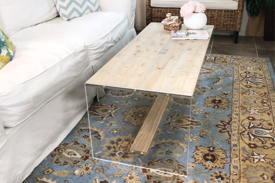 How To DIY Wood and Acrylic Table