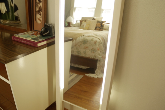 diy lighted mirror under 70 checking in with chelsea. Black Bedroom Furniture Sets. Home Design Ideas