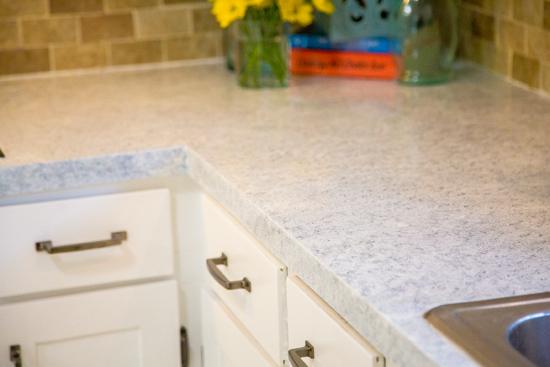 White Faux Granite Countertops