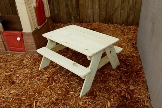 KidSized Picnic Table Checking In With Chelsea - Treated lumber picnic table
