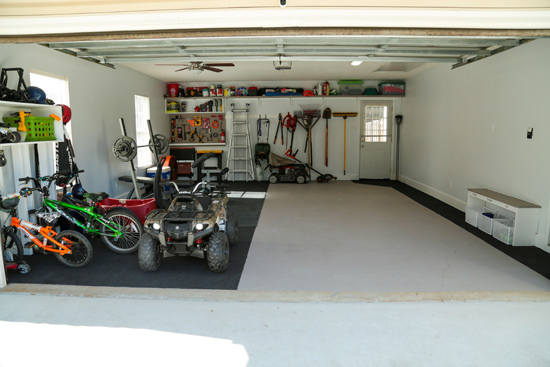 Family Garage All Tidy After Purging and Organizing