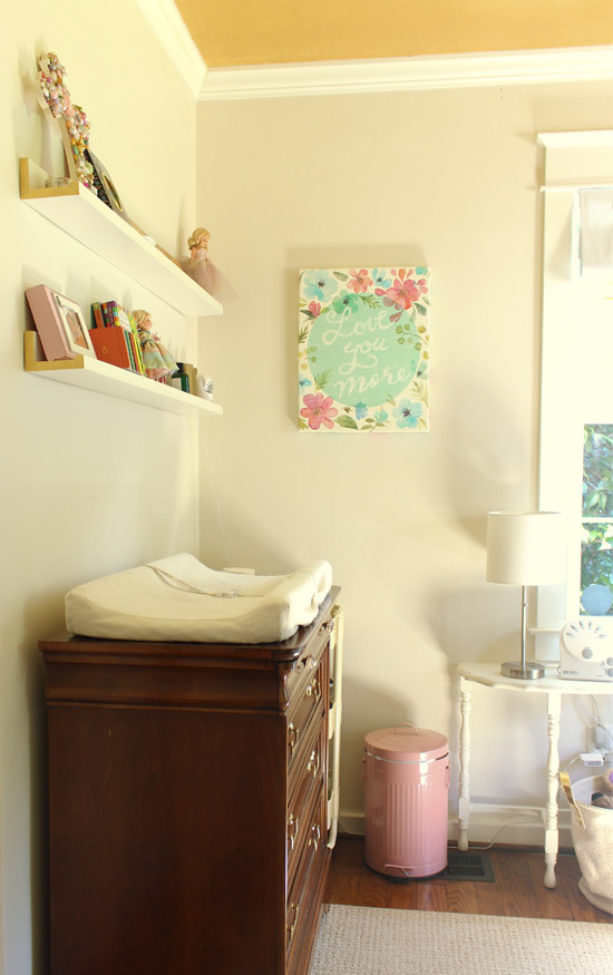 Changing Pad on Dresser in Toddler Room