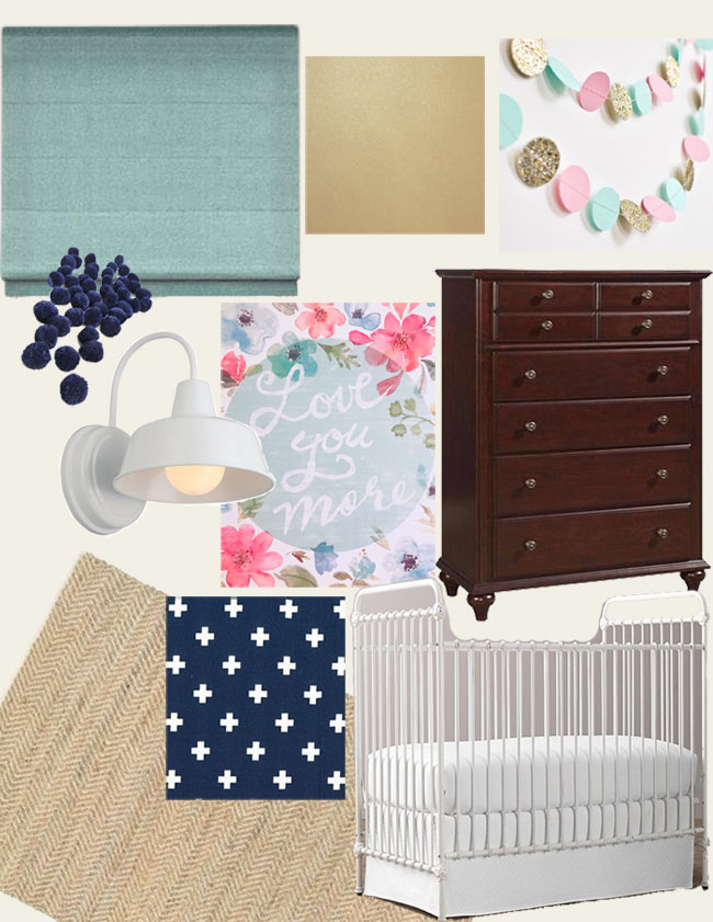 Boy and Girl Toddler Shared Room Mood Board