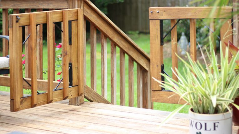 Diy Gates For Deck Stairs Checking In With Chelsea