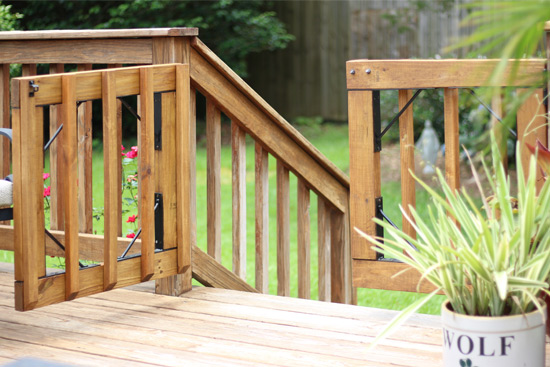 Diy gates for deck stairs checking in with chelsea deck gates built with kit and balusters solutioingenieria Images