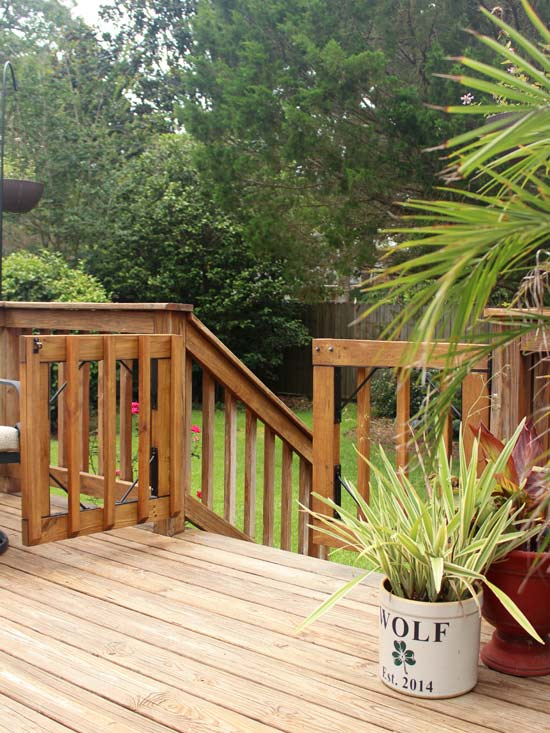 Open Gate from Wood Deck to Backyard