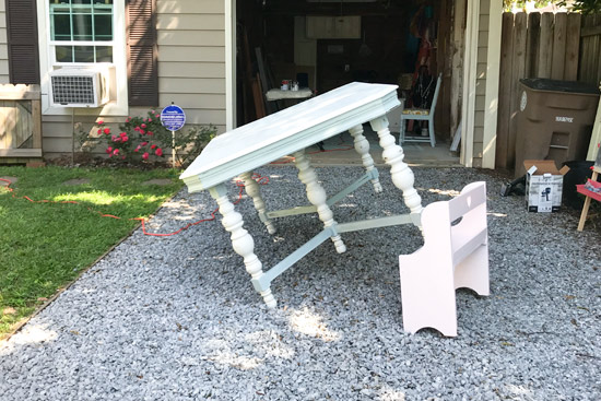 Prop Up Table to Paint Horizontal Surface