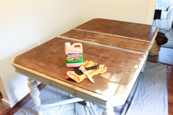 Using CitriStrip to Remove Stain from Dining Table