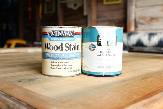 Water Based Stain Mixed with White Paint