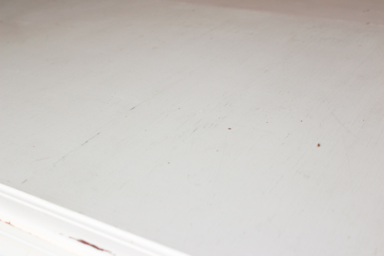 White Painted Dining Table Before Refinishing