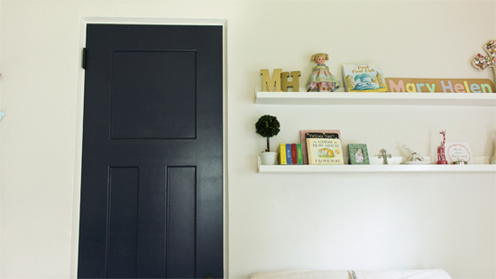 Closet Door Painted Navy Blue