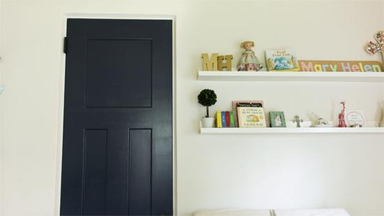 Beau Closet Door Painted Navy Blue