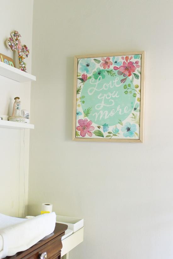 Simple Wood Frame Around Printed Canvas Art