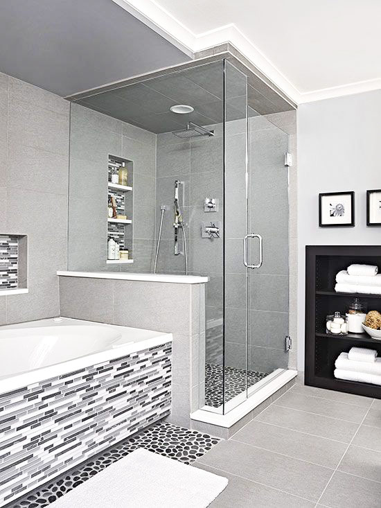 Separate Tub and Shower in Master Bathroom