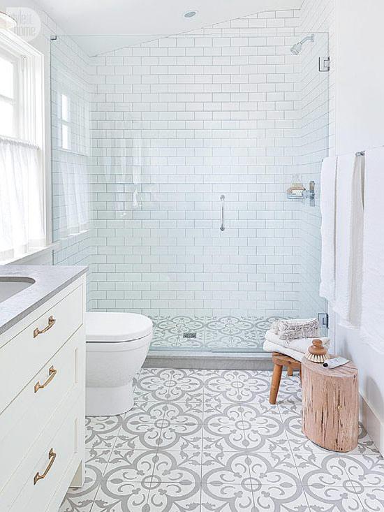 Walk in Glass Door Shower in Master Bathroom