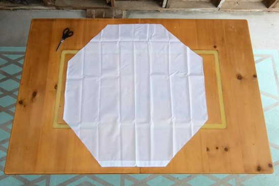 Wreath Cover Panel with Corners Cut