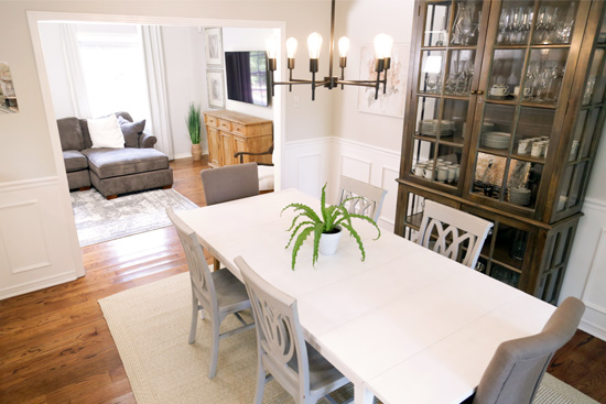 Adding Wainscoting and Paint to a Dining Room