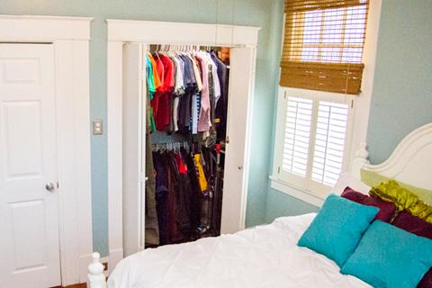 Bi-Fold Doors on Reach-In Bedroom Closet