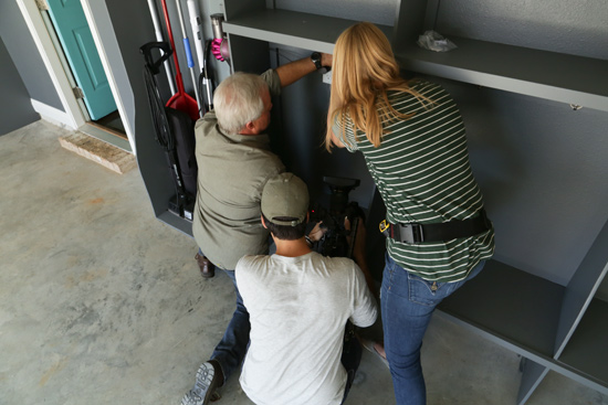 Installing Coat Hooks in Garage Lockers