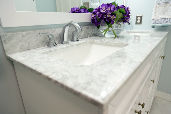 Marble Vanity Top with Double SInks