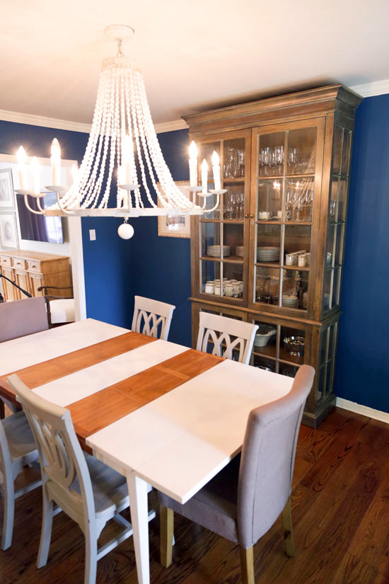 Navy Blue Dining Room Before Inexpensive Updates