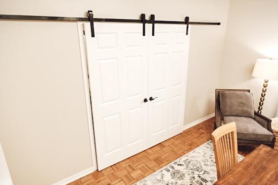 6 Panel Doors Used with Barn Door Hardware