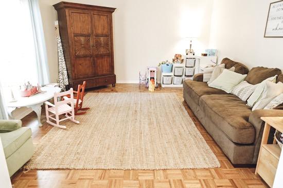 Formal Living Room Before Updates for Multipurpose Room