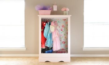 Make a Dresser into Closet for Dress Up Clothes