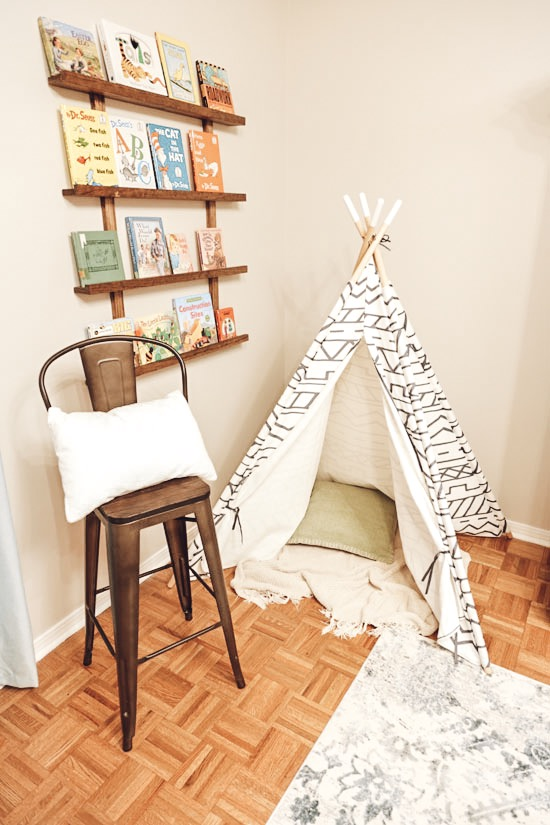Reading Corner and TeePee for Kids Playroom