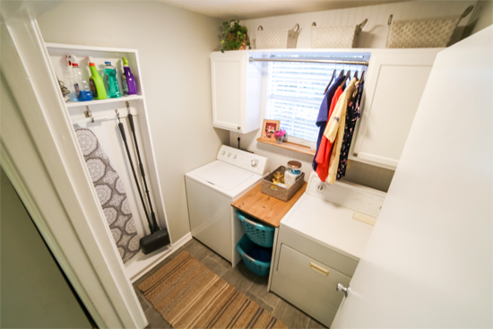 Laundry Room Facelift with Added Storage and Function